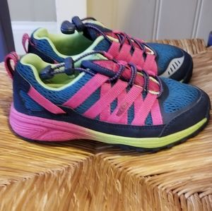 Keen girls size 13 sneakers blue and pink